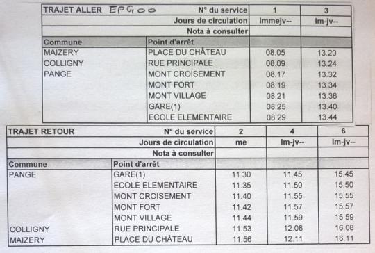 horaires bus EPG00